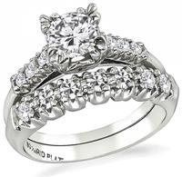 Estate 0.65ct Diamond Engagement Ring and Wedding Band Set
