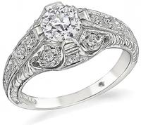 Estate 0.66ct Diamond Engagement Ring