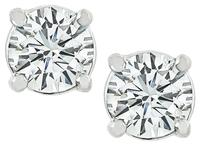 Estate 0.75ct Diamond Stud Earrings