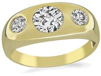 Estate 0.77ct Diamond Gold Men's Ring