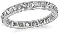 Estate 0.80ct Diamond Eternity Wedding Band