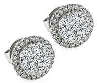 Estate 0.90ct Diamond Earrings