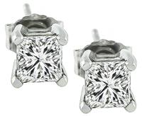 Estate 0.90ct Diamond Stud Earrings