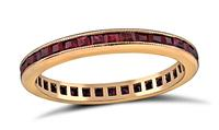 Estate 1.00ct Ruby Eternity Wedding Band
