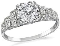Estate GIA Certified 1.01ct Diamond Engagement Ring