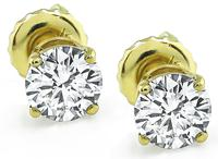Estate 1.01ct Diamond Stud Earrings