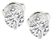 GIA Certified 1.04cttw Diamond Stud Earrings