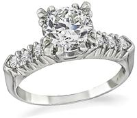 Estate 1.25ct Diamond Engagement Ring
