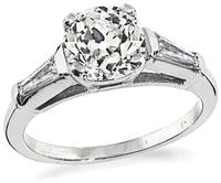 Estate 1.41ct Diamond Engagement Ring
