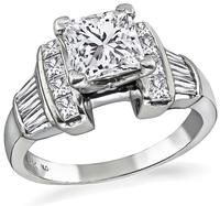 Estate IGI Certified 1.51ct Diamond Engagement Ring