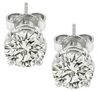 Estate 1.70ct Diamond Stud Earrings