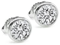 Estate IGI Certified 1.80ct Diamond Stud Earrings