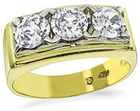 Estate 1.90ct Diamond Gold Ring