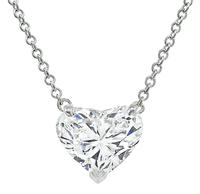Estate 1.98ct Heart Shape Diamond Necklace