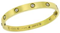 Estate Cartier 10 Diamond Gold Love Bangle