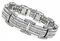 Estate 12.00ct Diamond Gold Bracelet