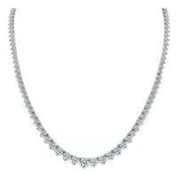 Estate 12.55ct Diamond Tennis Necklace