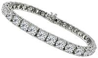Estate 12.60ct Diamond Tennis Bracelet