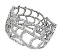 Estate 15.20ct Diamond Gold Bangle