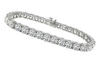 Estate GIA Certified 17.54ct Diamond Tennis Bracelet