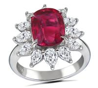 Estate 2.02ct Rubellite 1.38ct Diamond Ring