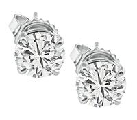 Estate 2.11ct Diamond Stud Earrings