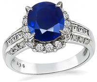 Estate 2.16ct Sapphire 0.56ct Diamond Ring