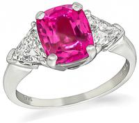 Estate 2.20ct Pink Sapphire 0.80ct Diamond Engagement Ring