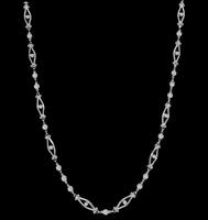 Vintage 2.30ct Diamond By The Yard Necklace