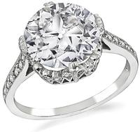 Edwardian Style 2.36ct Diamond Engagement Ring