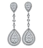 Estate 2.50ct Diamond Drop Earrings