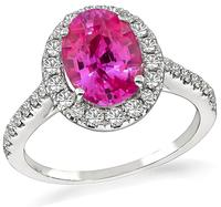 Estate 2.53ct Pink Sapphire 0.60ct Diamond Engagement Ring