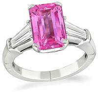 Estate 2.67ct Baby Pink Sapphire Engagement Ring