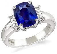 Estate 2.74ct Sapphire Engagement Ring