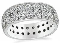 Estate 2.88ct Diamond Eternity Wedding Band