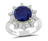 Estate 2.93ct Sapphire 0.90ct Diamond Engagement Ring