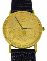 Estate Corum 20 Dollar Coin Gold Watch