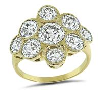 Estate 3.50ct Diamond Gold Ring