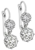 Vintage 3.62ct Diamond Earrings