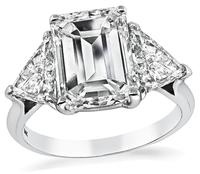 Estate 3.70ct Diamond Engagement Ring