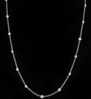 Estate 4.00ct Diamond By The Yard Necklace