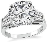 Estate GIA Certified 4.00ct Diamond Engagement Ring