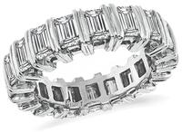 Estate 4.10ct Diamond Eternity Wedding Band