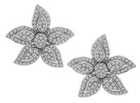 Estate 5.00ct Diamond Star Earrings