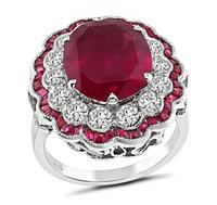Estate 5.08ct Rubellite 1.18ct Diamond Ring