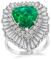 Estate 5.26ct Emerald 2.00ct Diamond Ring /Pendant