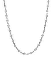 Estate 5.50ct Diamond By The Yard Necklace