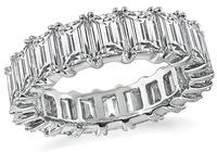 Estate 6.20ct Diamond Eternity Wedding Band