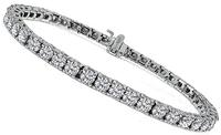 Estate 7.20ct Diamond Tennis Bracelet