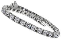 Estate 7.64ct Diamond Tennis Bracelet